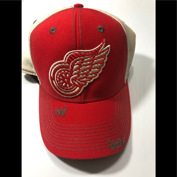 f5f06dc8a CCM Accessories | Detroit Red Wings Mesh Trucker Hat Original 6 ...
